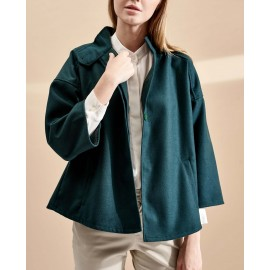 BUTTON CAPE (MOSS)