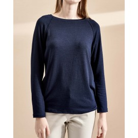 KALEY KNIT TOP (NAVY)