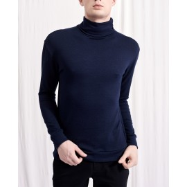 CLEMENT ROLL NECK JUMPER (NAVY)