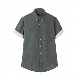 MEN DARK GREEN CONTRAST SHIRT