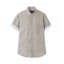 MEN LIGHT GREY CONTRAST SHIRT