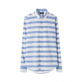 MEN STRIPE SLIM FIT SHIRT