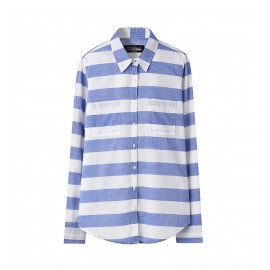 WOMEN BLUE SOFT-WASH STRIPE SHIRT