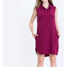 POCKET SHIFT DRESS (RASBERRY)