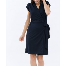 WRAP DRESS (NAVY)
