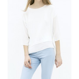 DOUBLE LAYER BLOUSE (WHITE)