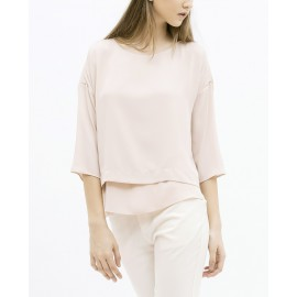 DOUBLE LAYER BLOUSE (PINK)
