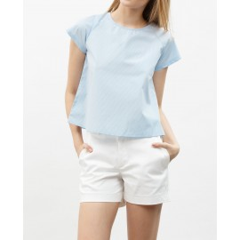 BUTTON SHORTS (WHITE)