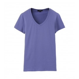 WOMEN BLUE VIOLET V-NECK T-SHIRT