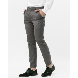 SLIM-FIT SUIT TROUSERS (GREY)