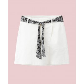 SKORTS WITH TIE (WHITE)