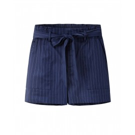 HIGH WAIST SHORTS (NAVY)