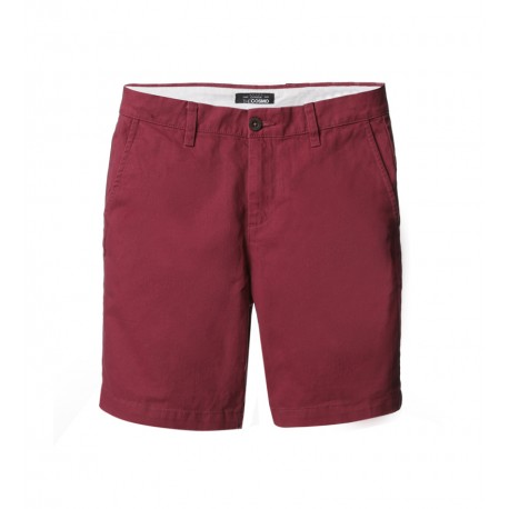 MEN RED FLAT FRONT SHORTS