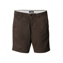 MEN BROWN FLAT FRONT SHORTS