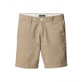MEN BEIGE FLAT FRONT SHORTS