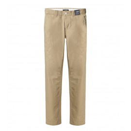 MEN BEIGE REGULAR FIT CHINOS