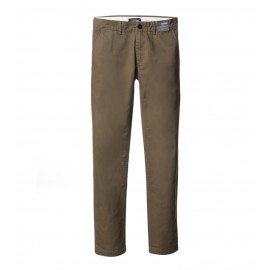 MEN OLIVE REGULAR FIT CHINOS