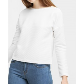 RIBBED SWEATSHIRT (WHITE)