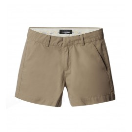 WOMEN BEIGE CHINO SHORTS