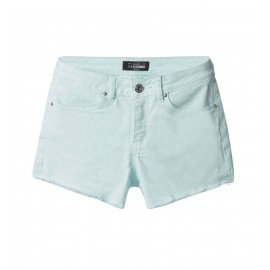 WOMEN BLUE SLIM-FIT TWILL SHORTS