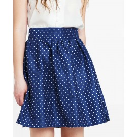 PRINTED SKIRT (COBALT)